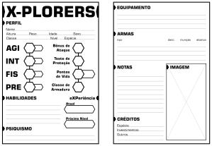 Ficha de Personagens X-Plorers